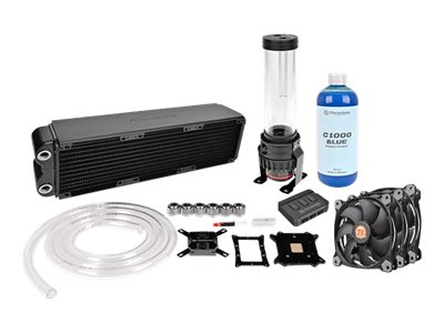 Thermaltake Pacific RL360 RGB Water Cooling Kit with Block, Pump, Reservoir, Radiator, and (3x)Riing LED Fans, CL-W113-CA12SW-A, 31465003, Cooling Systems/Fans