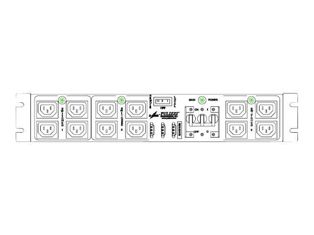 Eaton EM ePDU 5.76kW 110-125V 24A 2U HW Input (14) C13 Outlets (12 Switched), PC5585-CF1/LT, 12756278, Power Distribution Units