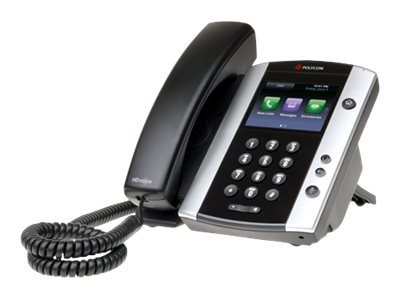 Polycom Lync VVX 500 12 Line Phone, HD POE, 2200-44500-018, 18521517, VoIP Phones