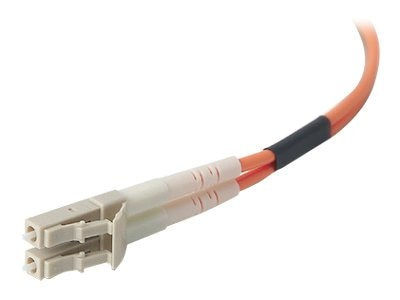 Belkin Fiber Optic Cable, LC-LC, 62.5 125um, Duplex Multimode, 150ft, F2F202LL-150, 5463303, Cables