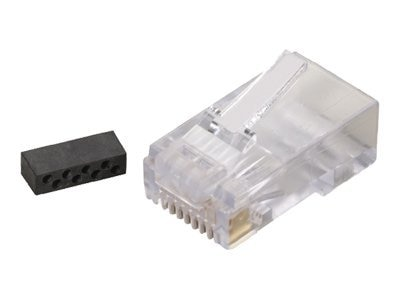 Black Box CAT6 Modular Plugs, RJ-45, Clear (25-Pack), FM860-25PAK, 7303071, Premise Wiring Equipment
