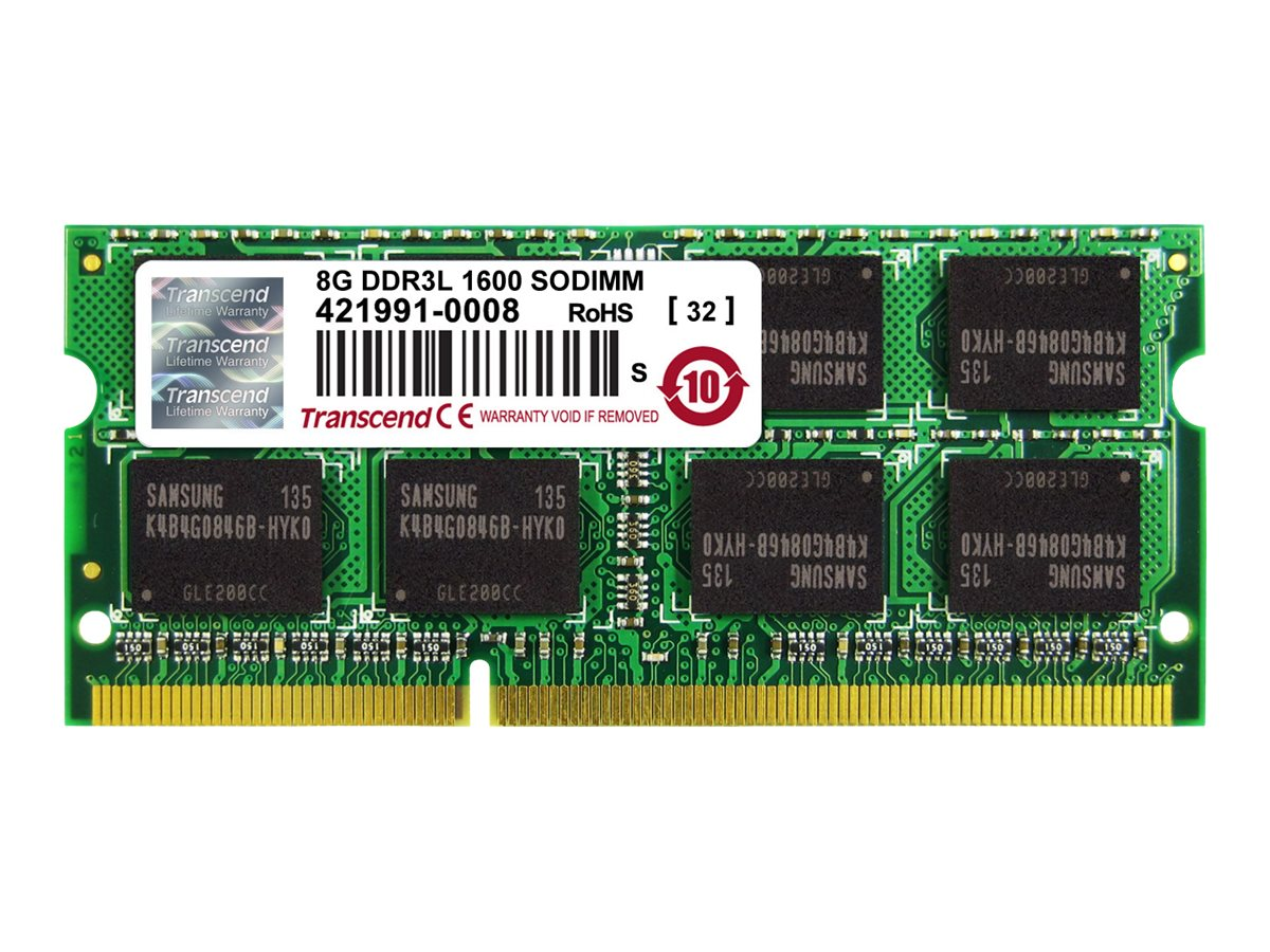 Transcend 8GB PC3-12800 DDR3 SDRAM SODIMM, TS1GSK64W6H