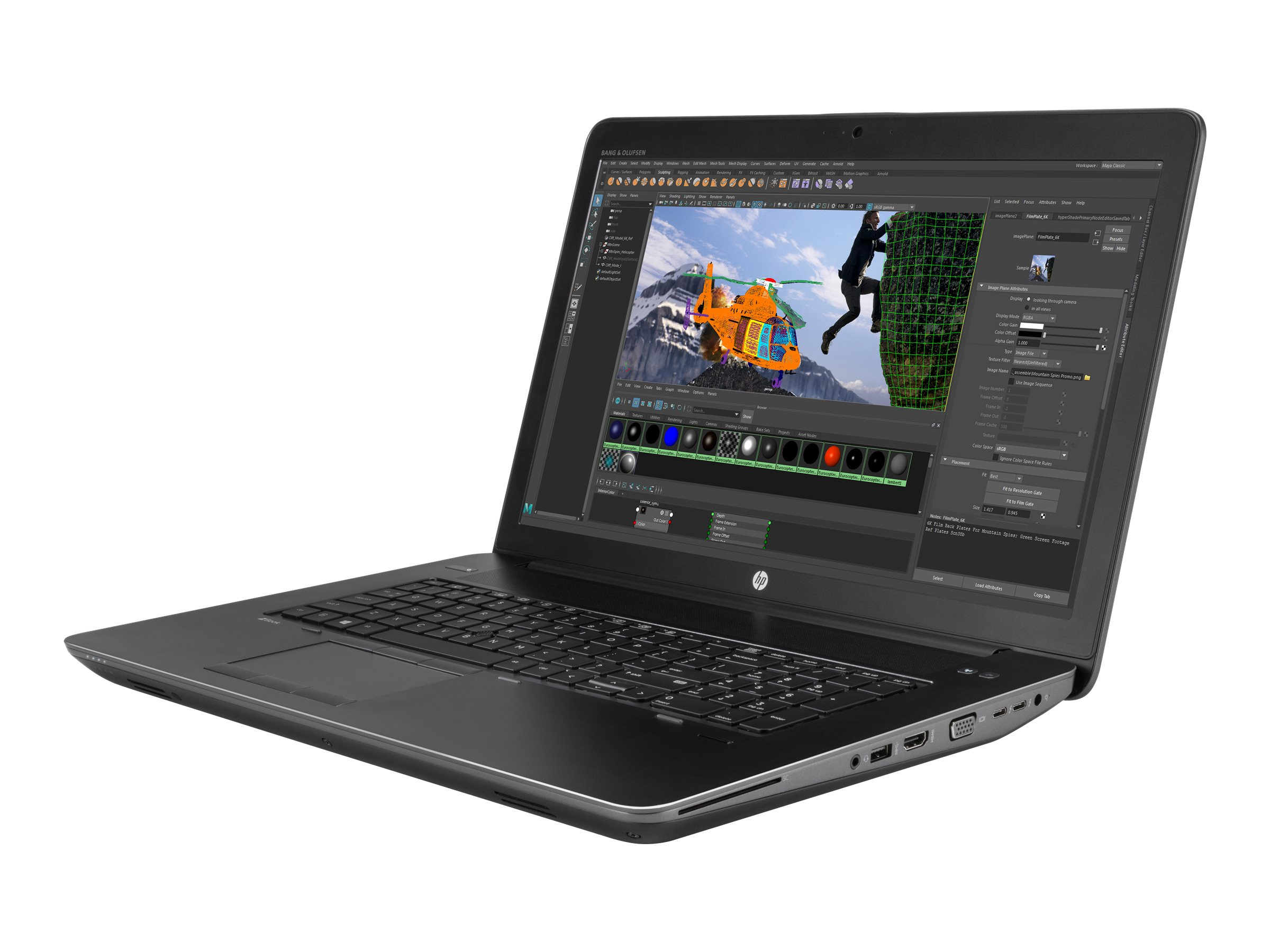 HP ZBook 17 G4 Core i7 2.8GHz 8GB 256GB W10P64