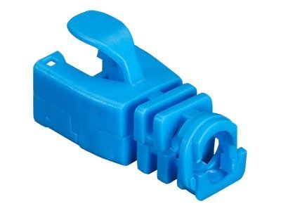 Black Box Snap-On Patch Cable Boot, Blue, 50-Pack