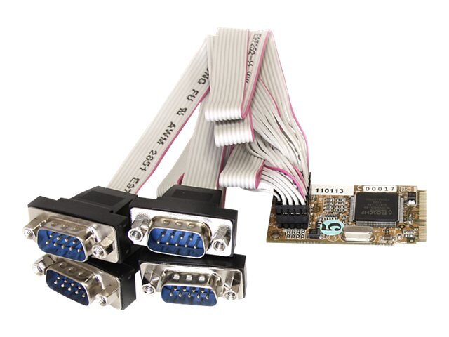 StarTech.com 4 Port RS232 Mini PCI Express Serial Card w  16650 UART, MPEX4S552, 13319424, Controller Cards & I/O Boards
