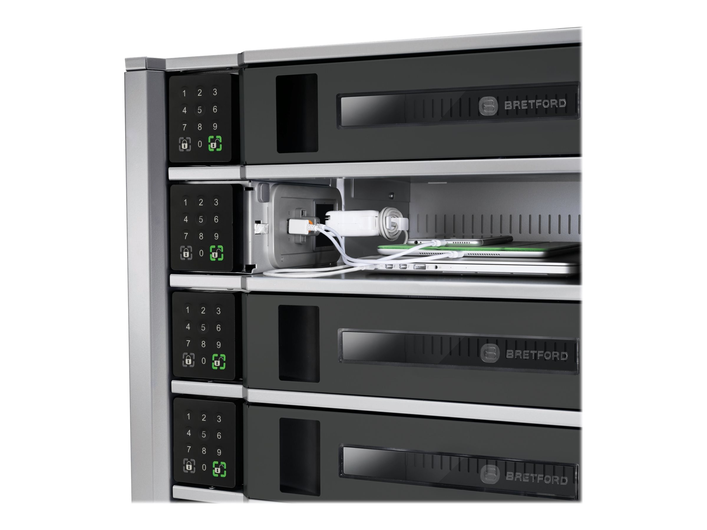 Bretford Manufacturing 10-Bay 30-Device TechGuard Charging Locker, TL10C-K-US