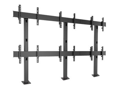 Chief Manufacturing FUSION 3 x 2 Micro-Adjustable Large Bolt-Down Freestanding Video Wall, Black