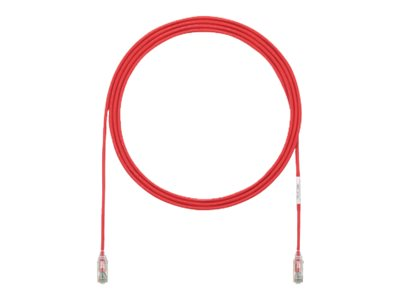 Panduit CAT6E 28AWG UTP Copper Patch Cable, Red, 8ft, UTP28SP8RD, 18236003, Cables
