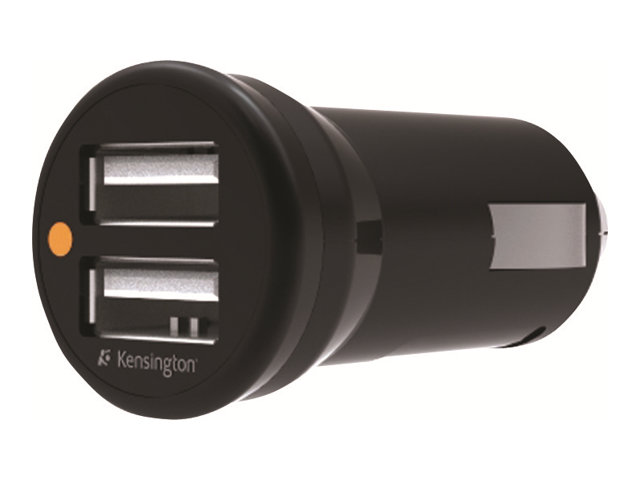 Kensington Powerbolt Duo Car Charger for iPhone, iPod, iPad, K33497US