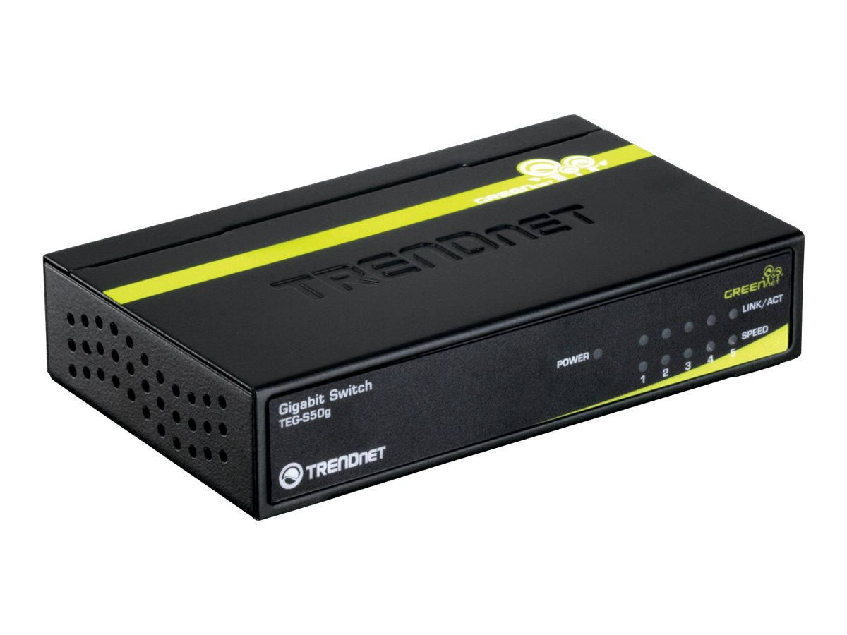 TRENDnet 5-Port Gigabit  Switch, TEG-S50G, 9390236, Network Switches