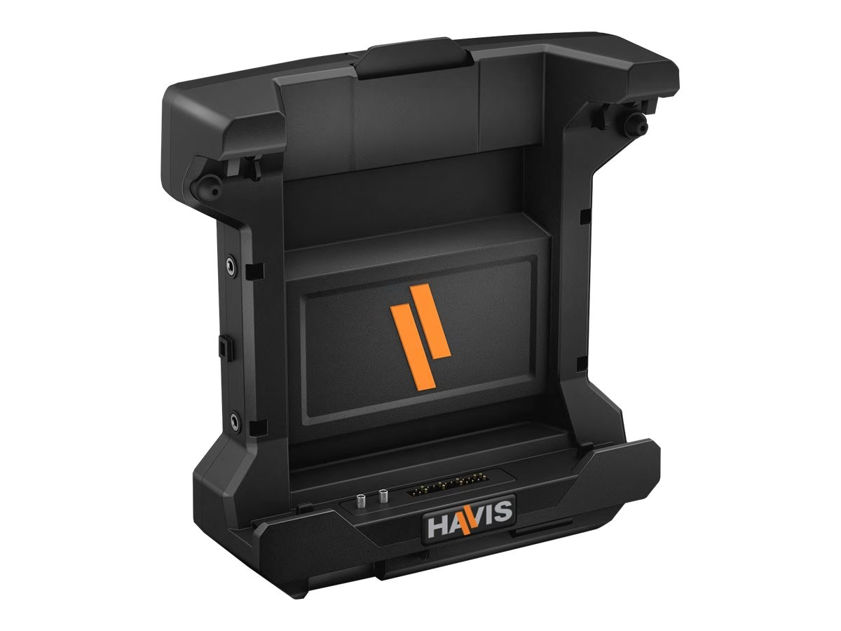 Havis Vehicle Dock w Dual Pass-Thru and PS for Latitude 12 Rugged Tablet, DS-DELL-602-2