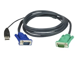Aten All-in-One Bonded USB KVM Cable, 6ft, 2L5202U, 5743410, Cables