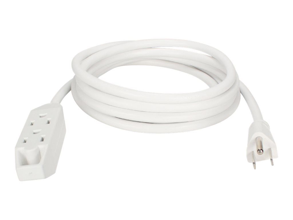 QVS Power Extension Cord (3) Outlets 3-Prong 25ft, PC3PX-25WH