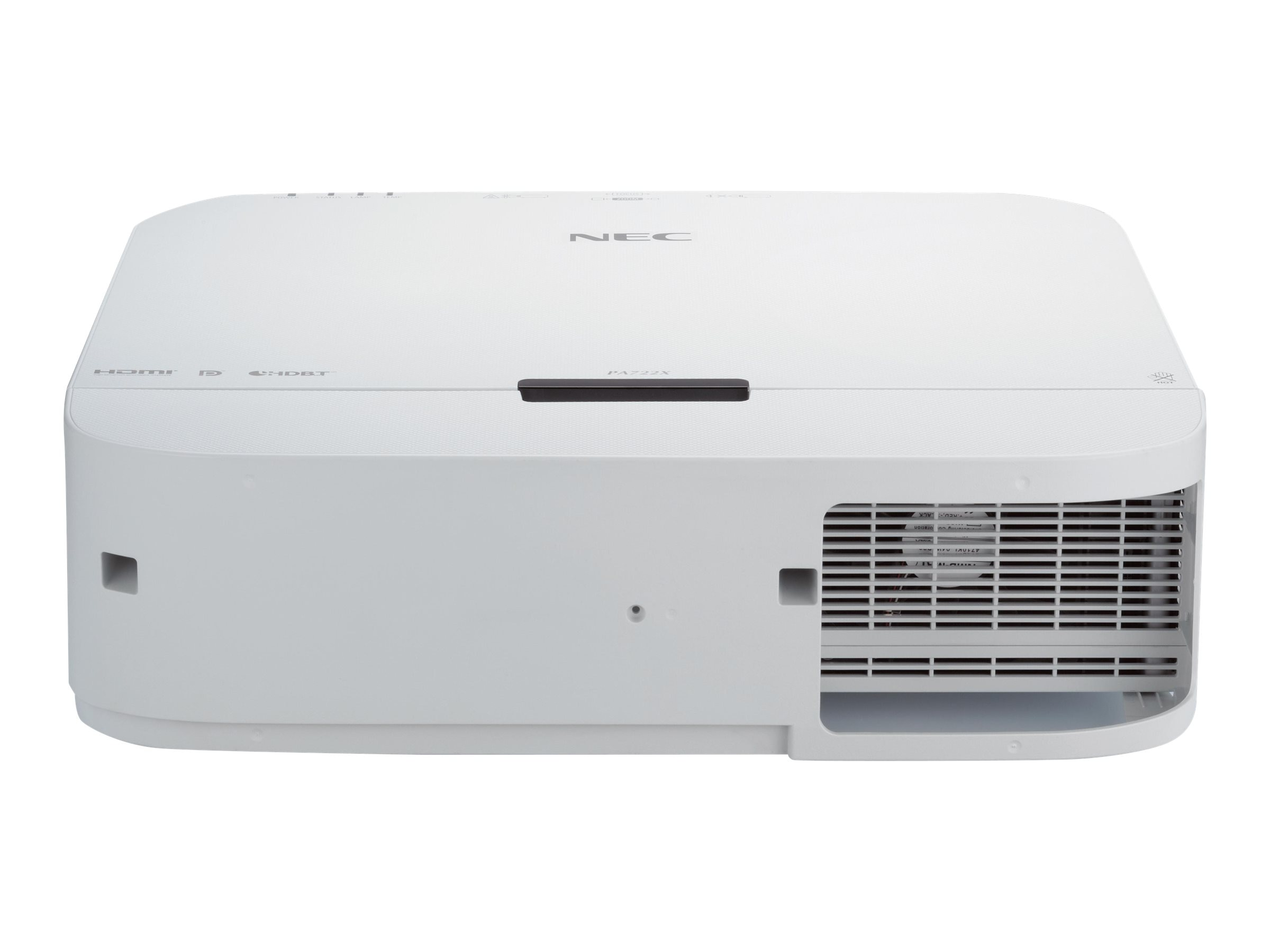 NEC PA722X XGA LCD Projector, 7200 Lumens, White with 1.5-3.0:1 Zoom Lens, NP-PA722X-13ZL