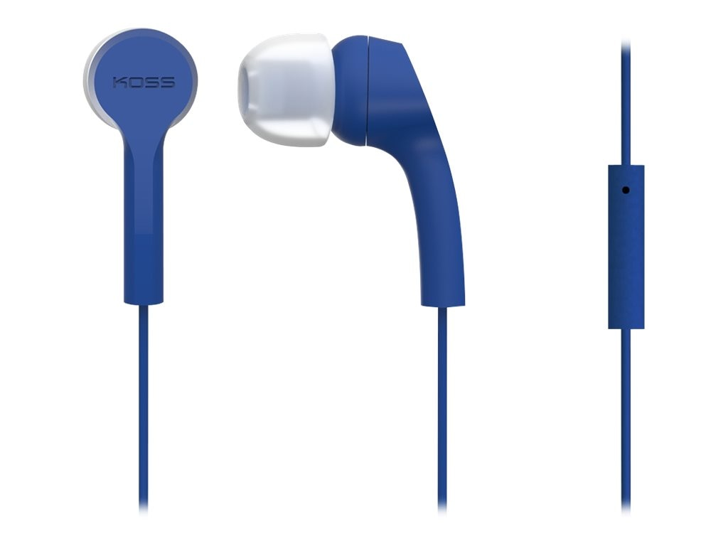 Koss Noise Isolation In-Ear Buds w  Extra Cushions - Blue, KEB9IB