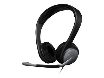Sennheiser Over The Head Headset with Noise Cancelling Mic and In-line Volume Control, PC151