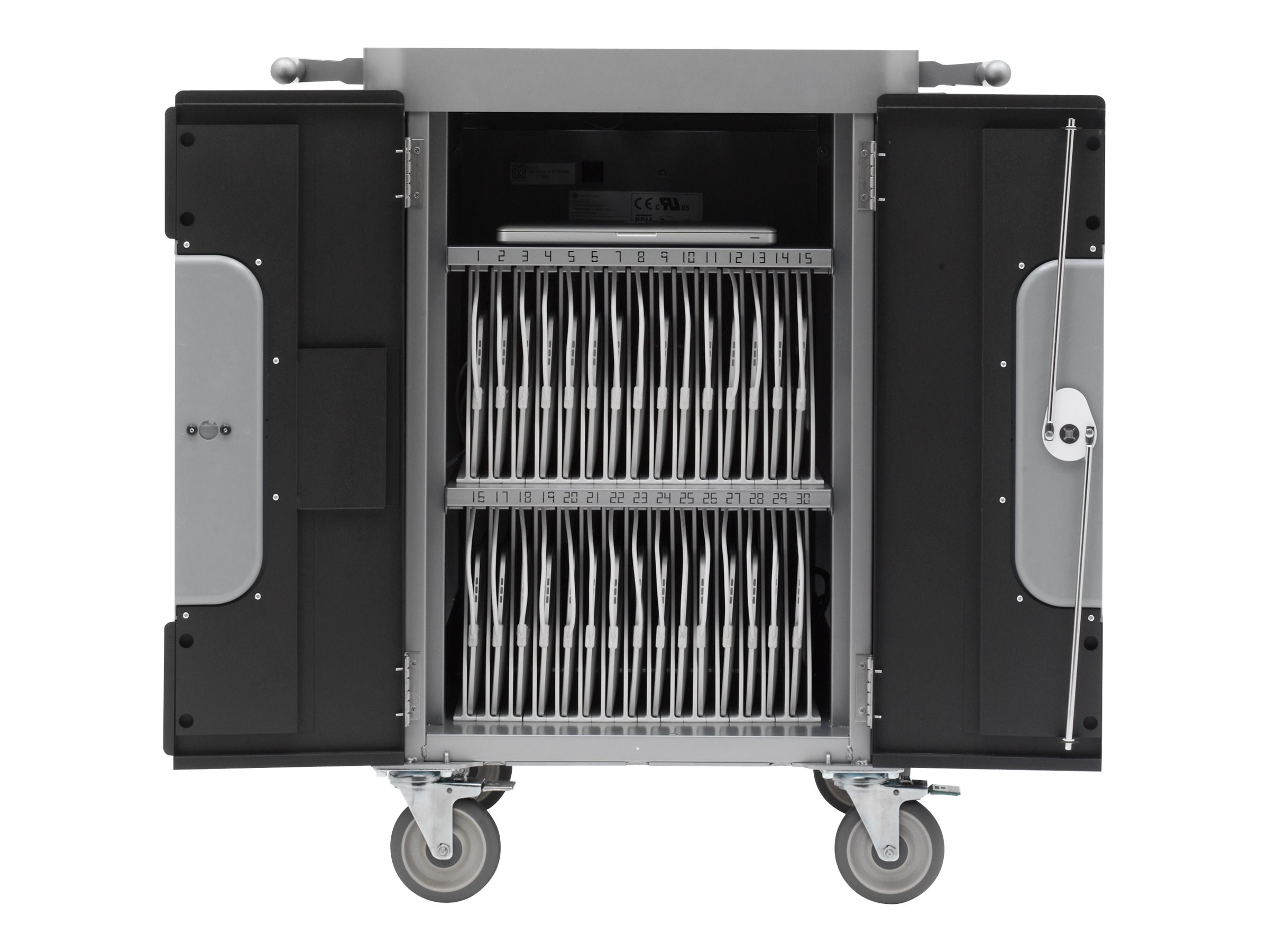 Bretford Manufacturing 30-unit PowerSync Cart for iPad, iPad Mini with Lightning Connector, HB716BG1, 17411640, Computer Carts