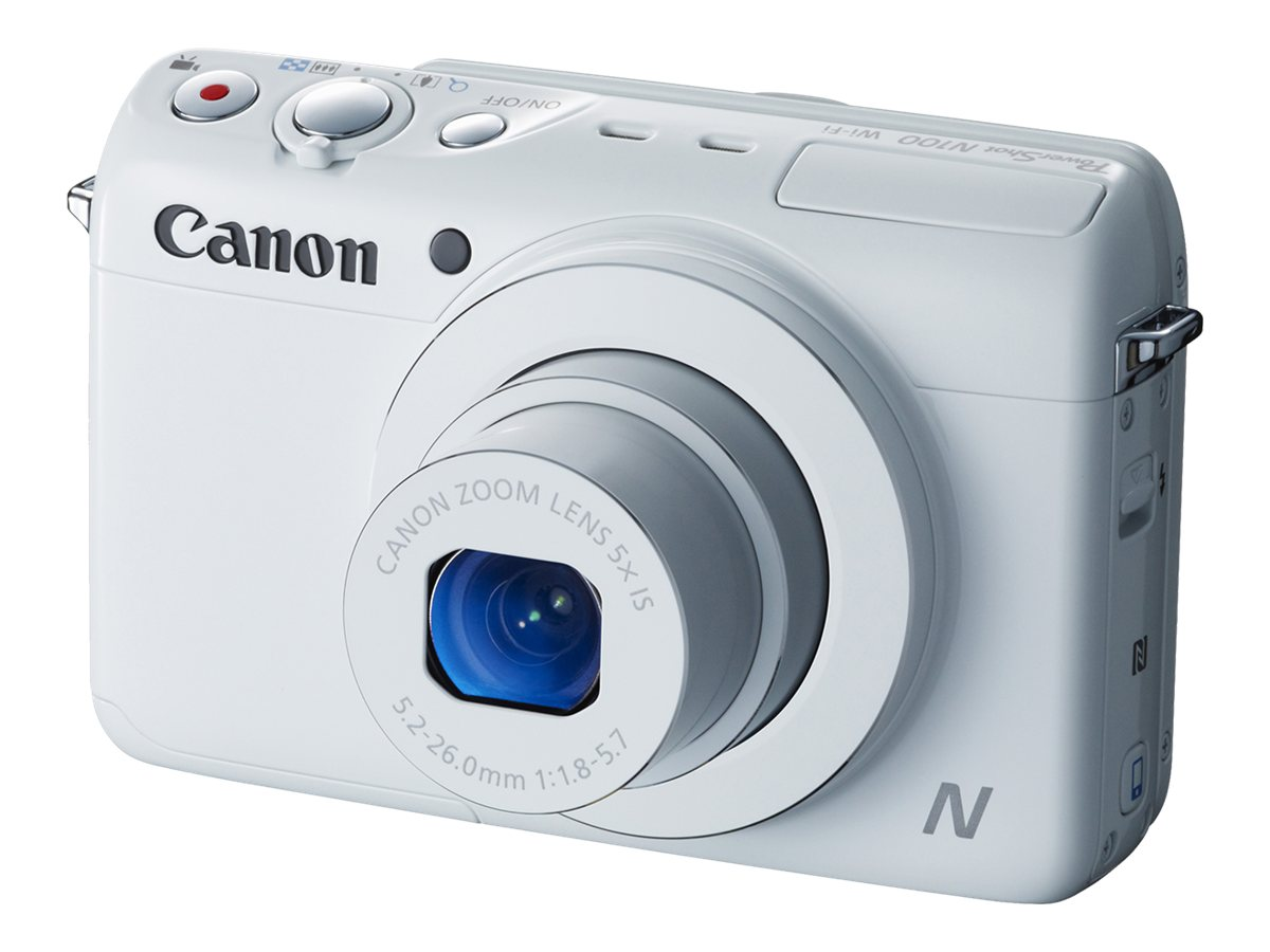 Canon PowerShot N100 Digital Camera, White, 9169B001