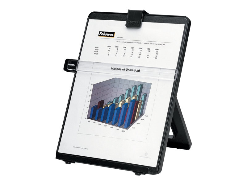 Fellowes Workstation Copyholder -Letter Size - Non-Magnetic, Black, 21106, 186335, Ergonomic Products