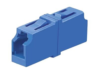 Panduit LC-LC Sr. Sr. Singlemode Simplex Fiber Optic Adapter, Blue, 50-Pack, FASSLCZBU-L, 31610101, Adapters & Port Converters