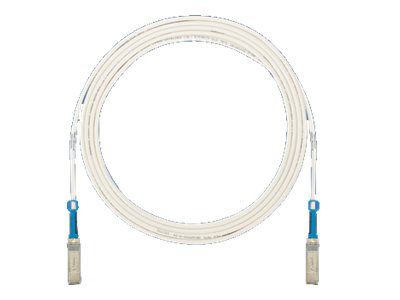 Panduit SFP+ 10Gig Direct Attach Passive Copper Cable, White, 2.5m