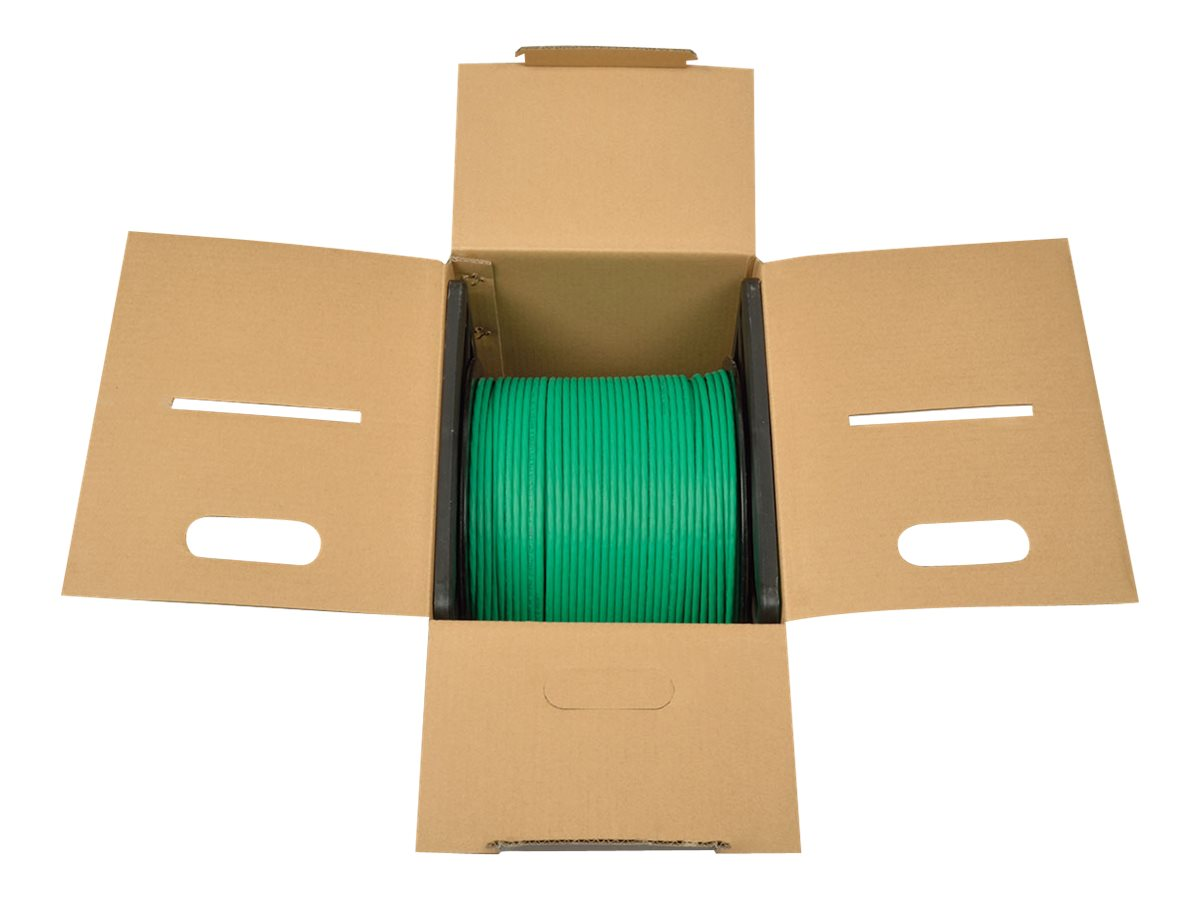 Tripp Lite Cat6 Gigabit Bulk Solid-Core Plenum-Rated PVC Cable, Green, 1000ft, N224-01K-GN