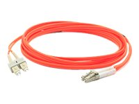 ACP-EP LC-SC 62.5 125 OM1 Multimode LSZH Duplex Fiber Cable, Orange, 5m