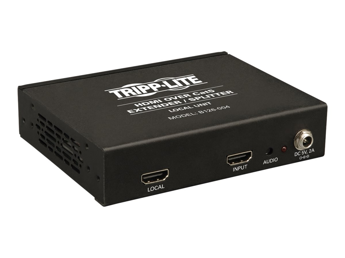 Tripp Lite 4-Port HDMI over Cat5 Cat6 Extender Splitter, Transmitter for Video and Audio, 1080p at 60Hz, B126-004
