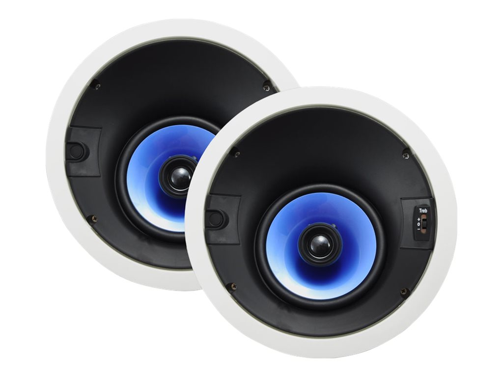 Pyle 250W 6.5 High Performance 2-Way In-Ceiling Speaker System, PIC62A, 18484832, Speakers - Audio