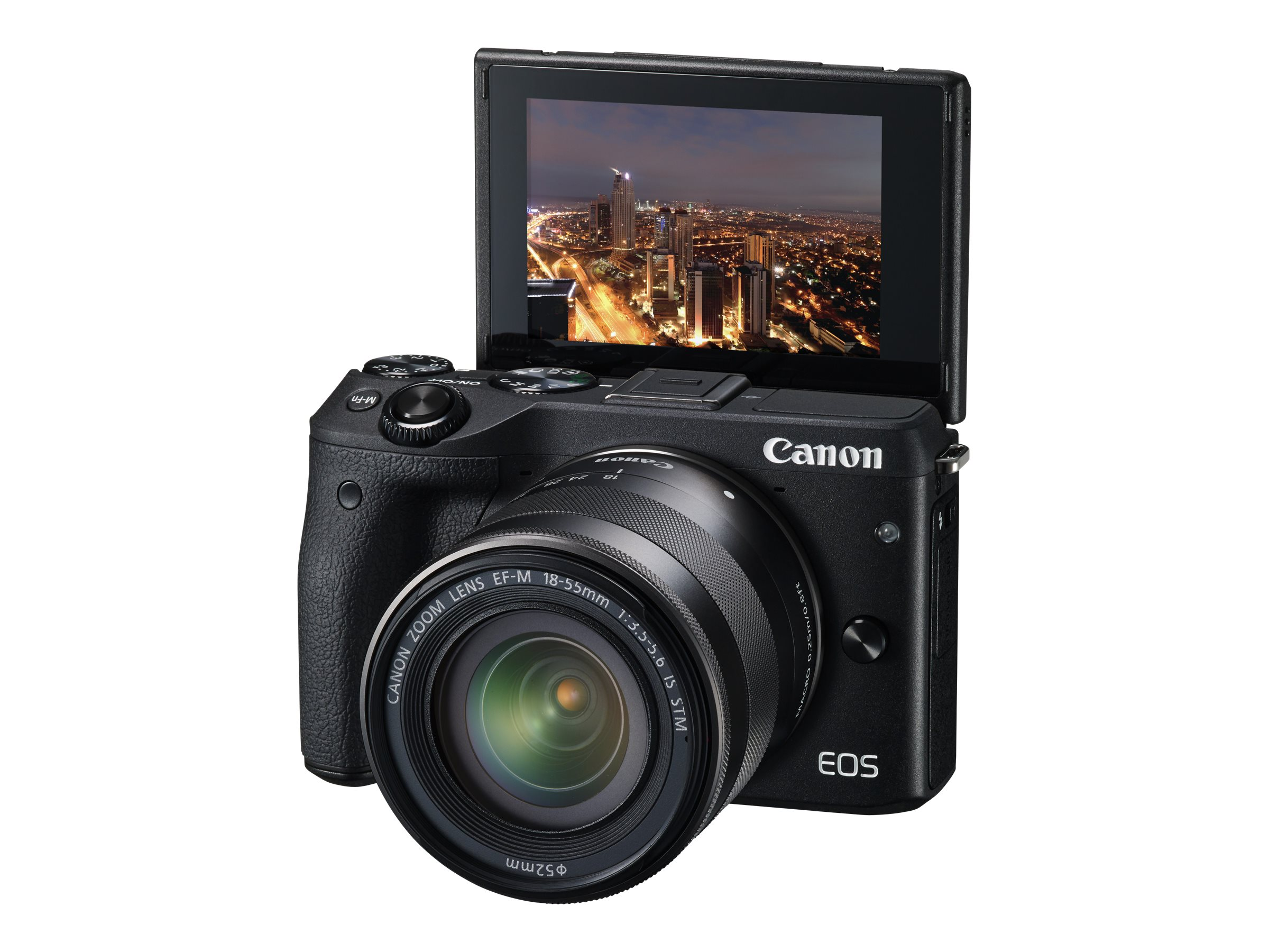 Canon EOS M3 Mirrorless Digital Camera with 18-55mm Lens, Black