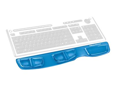 Fellowes Gel Keyboard Palm Support, Blue, 9183101, 8882571, Ergonomic Products