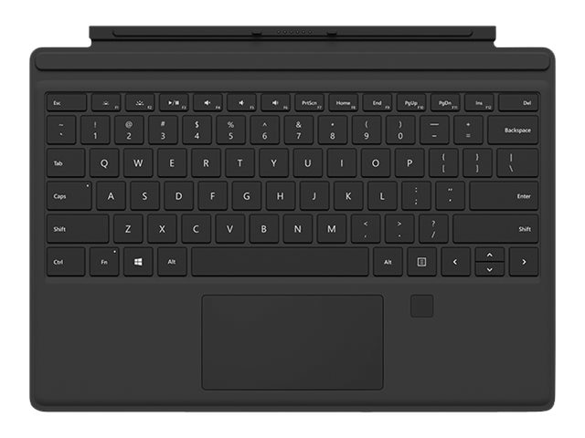 Microsoft Surface Pro 4 Type Cover w  Fingerprint Reader, Black, RH9-00001, 30734355, Keyboards & Keypads