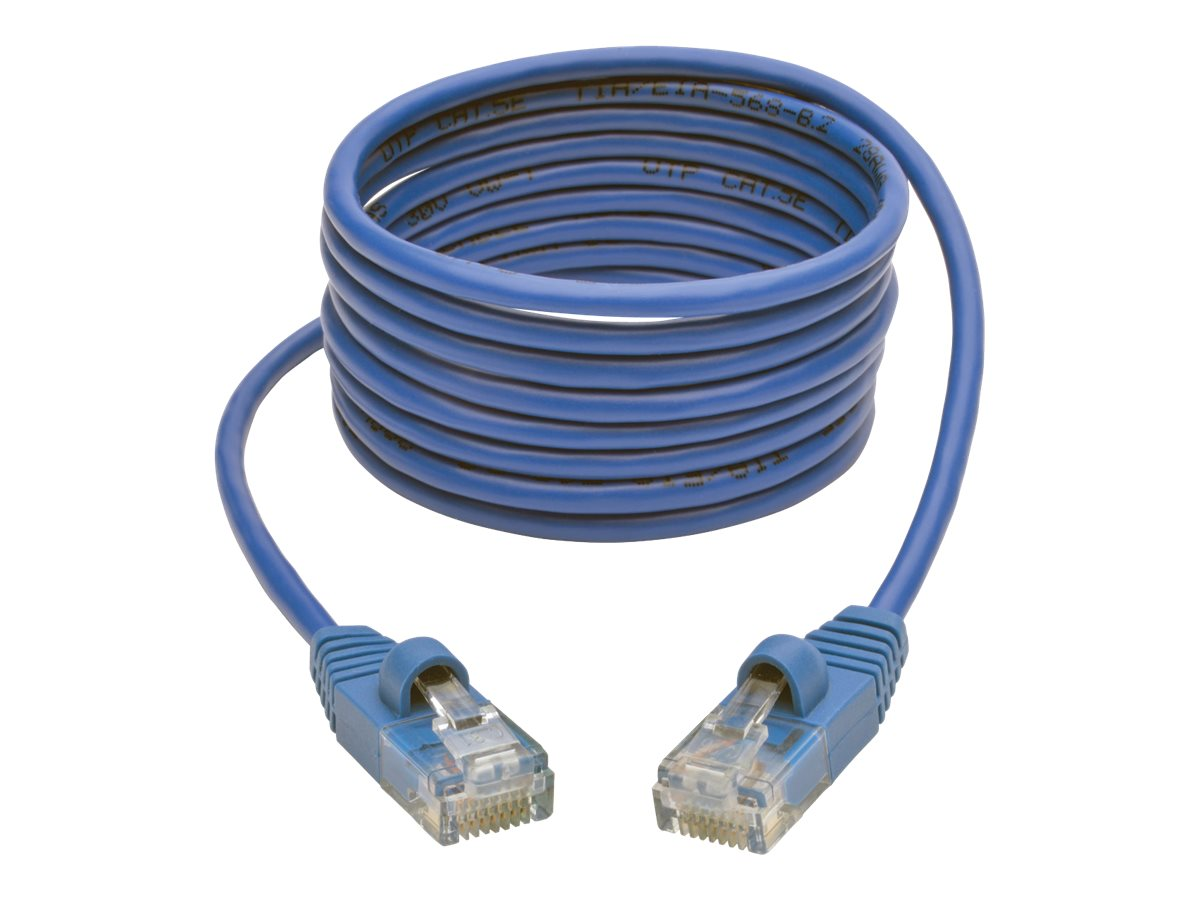 Tripp Lite Cat5e 350MHz Snagless Molded Slim UTP Patch Cable, Blue, 6ft, N001-S06-BL