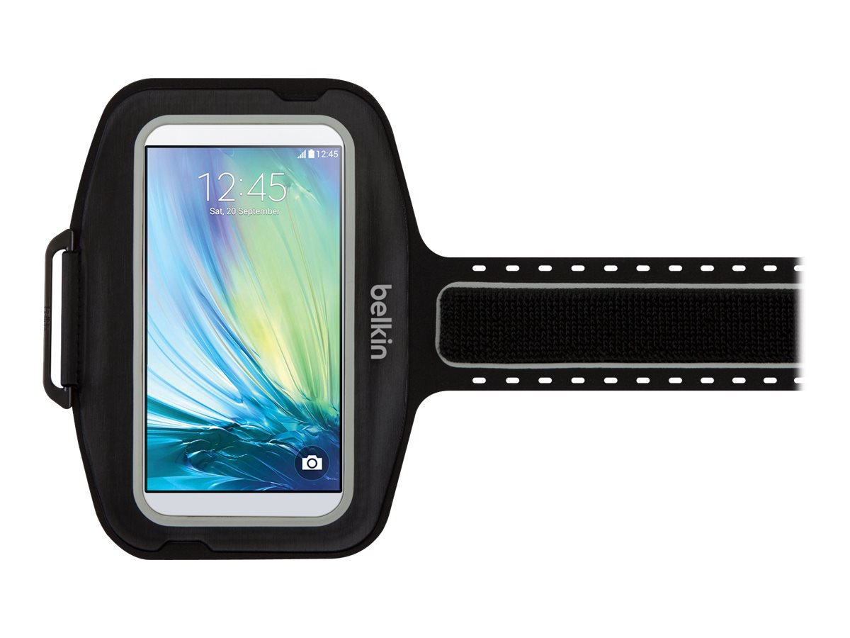 Belkin Sport-Fit Plus Armband for Galaxy S6, Blacktop