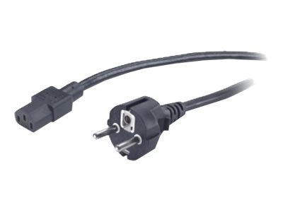 APC Power Cord IEC320 C-13 to Schuko CEE 7 7, 10A, 250V Int'l, Black, 1m, 3446-1M