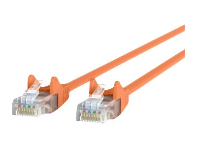 Belkin Cat5e Snagless Patch Cable, Orange, 7ft