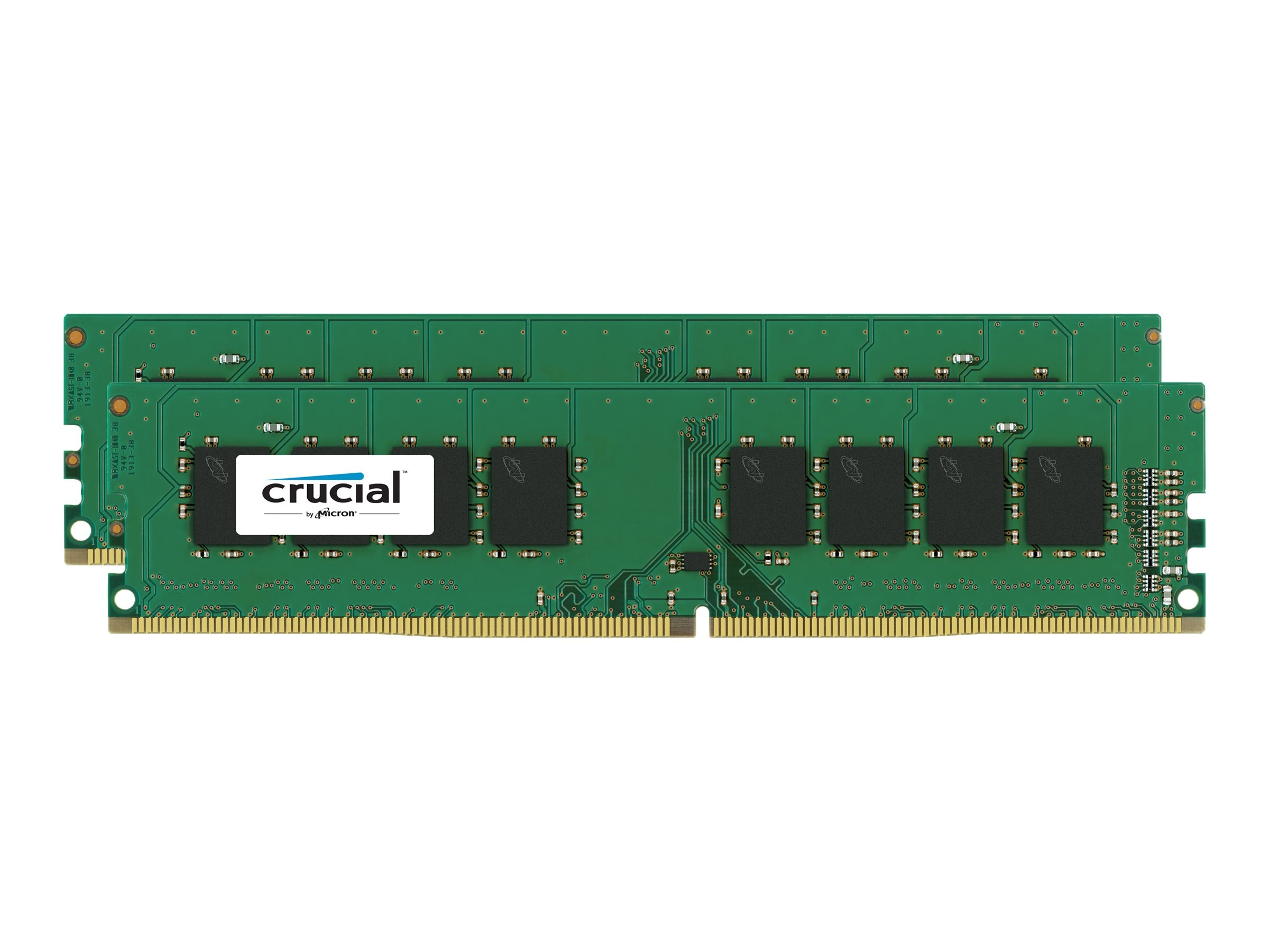 Crucial 16GB PC4-17000 288-pin DDR4 SDRAM UDIMM Kit, CT2K8G4DFD8213, 17714288, Memory
