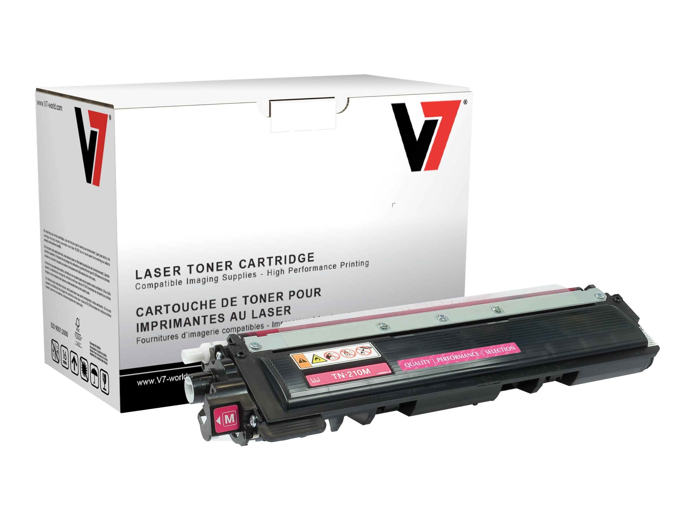 V7 TN210M Magenta High Yield Toner Cartridge for Brother HL-4040 (TAA Compliant), TBM2TN210MH