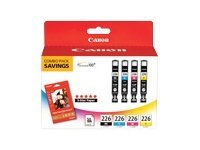 Canon CLI-226 4 Color Pack, 4546B007, 11647281, Ink Cartridges & Ink Refill Kits