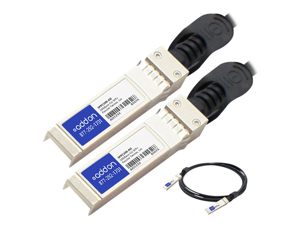 ACP-EP 10GBase-CU SFP+ to SFP+ Direct Attach Passive Twinax Cable, 1m, SPPC100-AO