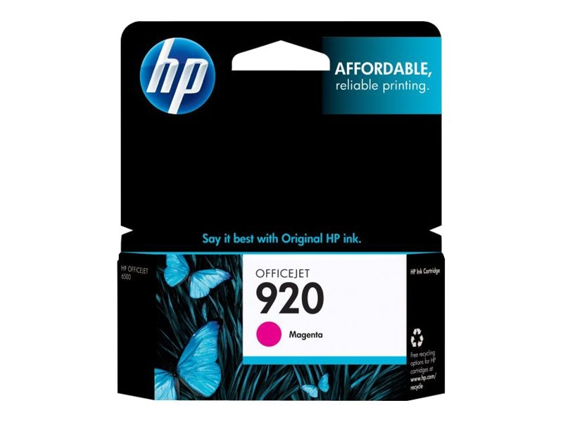 HP 920 (CH635AN) Magenta Original Ink Cartridge, CH635AN#140, 9257224, Ink Cartridges & Ink Refill Kits