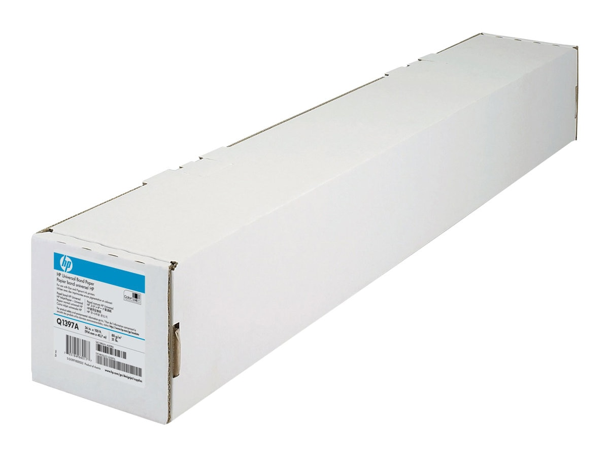 HP 36 x 150' Universal Bond Paper - 2 Core, Q1397A, 4891226, Paper, Labels & Other Print Media