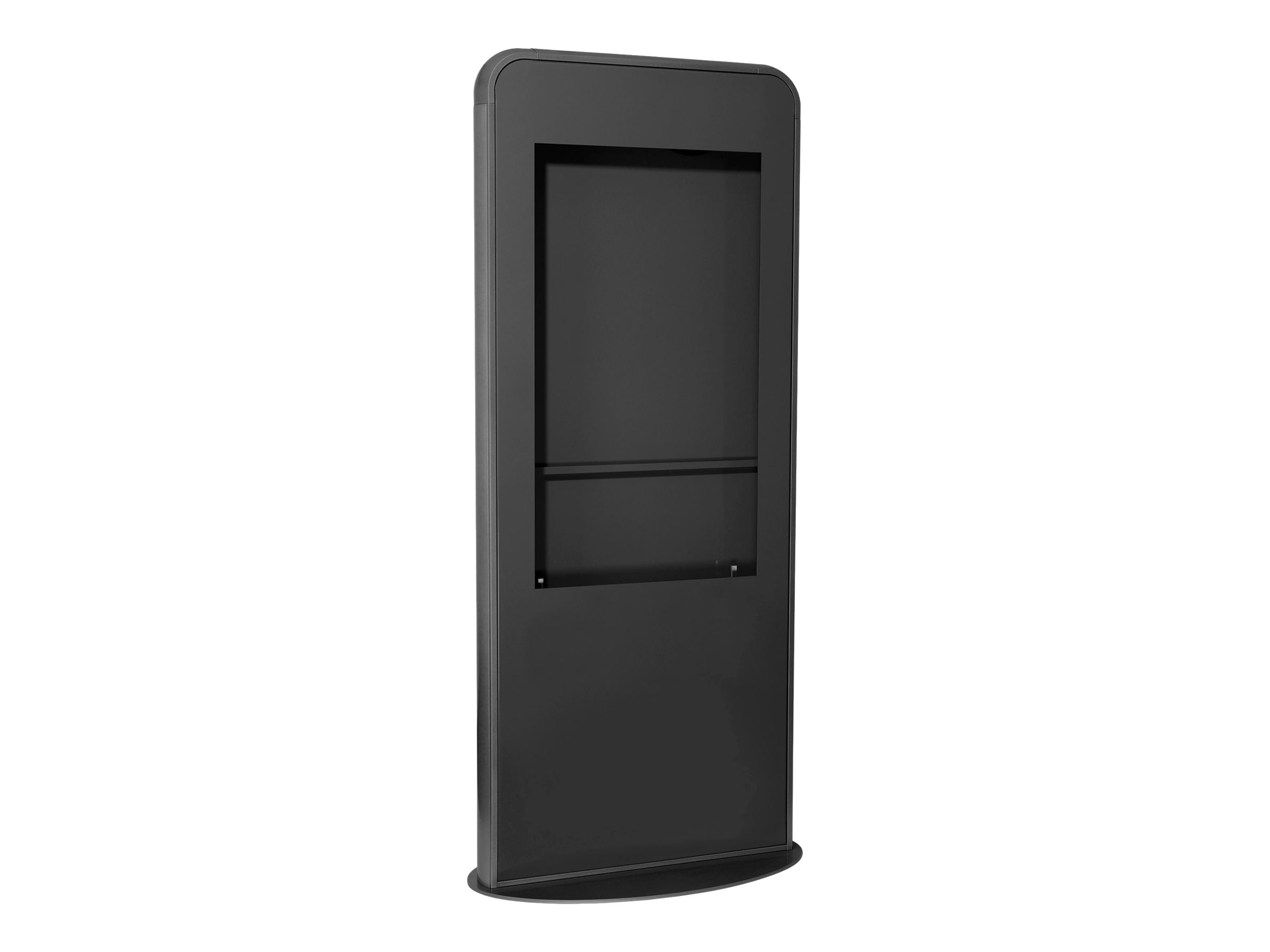 Peerless Portrait Kiosk fits most 49 Displays less than 3 deep, Black