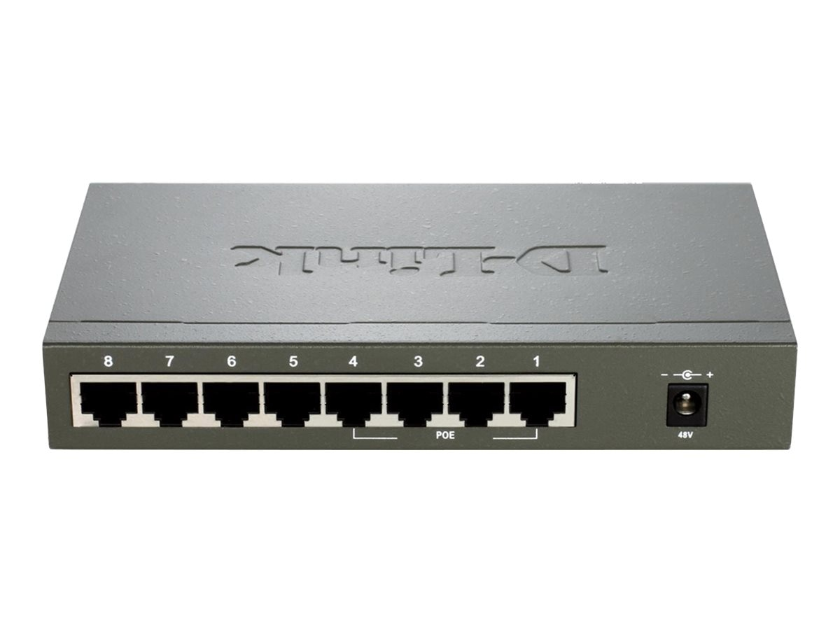 D-Link 8-Port FE (4xPoE) Unmngd Switch, DES-1008PA