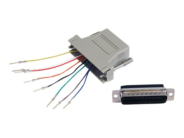 StarTech.com DB-25 (M) to RJ-45 (F) Adapter, GC258MF, 7434063, Adapters & Port Converters