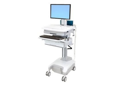Ergotron StyleView PHD LCD Cart, 1 Drawer, Powered, SV32-81211, 12331211, Computer Carts - Medical