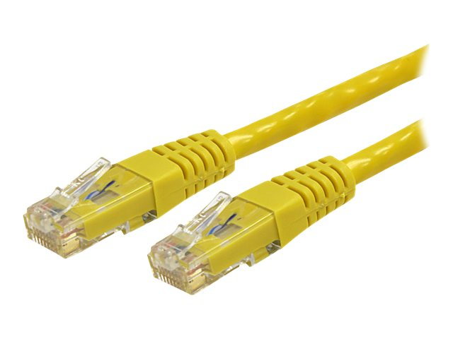 StarTech.com Cat6 UTP 500MHz Gigabit Ethernet Patch Cable, Yellow, Molded, 15ft, C6PATCH15YL, 8176078, Cables