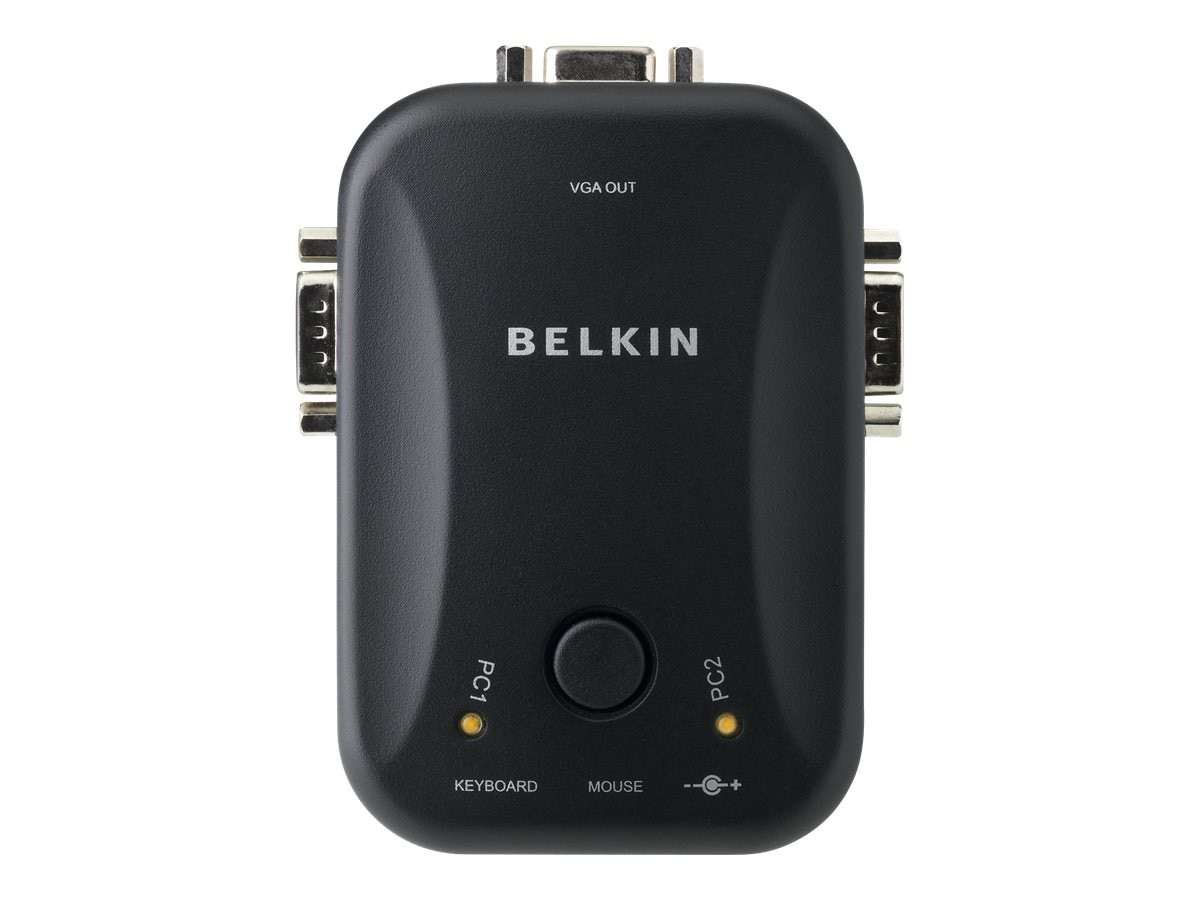 Belkin 2-Port KVM Switch with (2) OmniView 6ft. Cables, PS 2, F1DJ102P-B