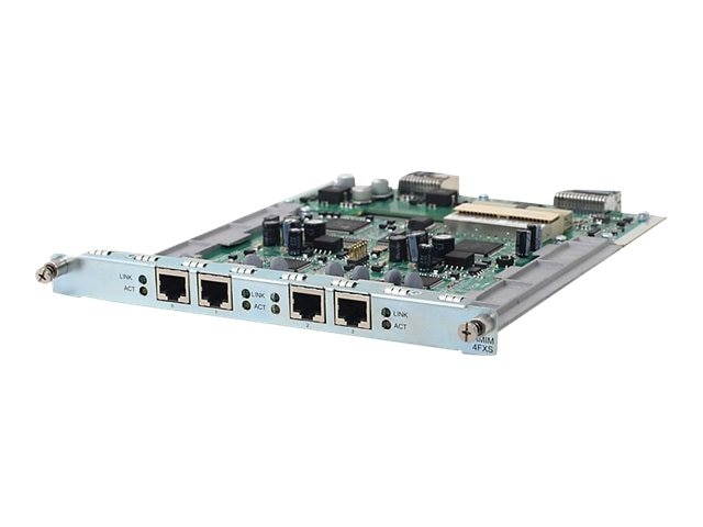 HPE MSR 4-Port FXS HMIM Module, JG446A, 16332051, Network Voice Router Modules