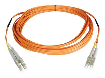 Tripp Lite Fiber Patch Cable, LC-LC, 50 125, Duplex, Multimode, Orange, 10m